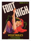 Foot High Vegetable Label - Firebaugh, CA Prints by  Lantern Press