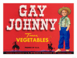 Gay Johnny Vegetable Label - Weslaco, TX Prints by  Lantern Press