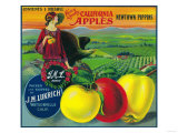 J.M.L. Apple Crate Label - Watsonville, CA Prints