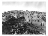 Crowd of Pilgrims in Bethlehem for Christmas Photograph - Bethlehem, Palestine Prints