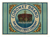 Coronet Lemon Label - Chula Vista, CA Prints by  Lantern Press