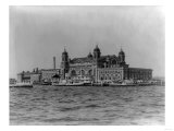 Immigrant Landing Station on Ellis Island Photograph - New York, NY Prints by  Lantern Press