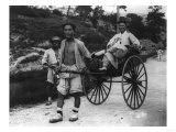 Korean Aristocrat Riding in a Rickshaw Photograph - Korea Prints by  Lantern Press
