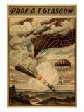 Glasgow Hot Air Balloon Circus Theatre Poster Art