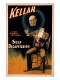 Kellar performing Self Decapitation Magic Poster Art by  Lantern Press
