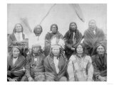 Lakota Indian Chiefs who Met General Miles to End Indian War Photograph - Pine Ridge, SD Prints