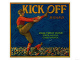 Kick Off Orange Label - Redlands, CA Prints by  Lantern Press