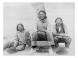 Lakota Indian Teenagers in Western Dress Photograph - Pine Ridge, SD Poster
