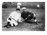John McGraw, NY Giants, Fred Tenney, Boston Rustlers, Baseball Photo - New York, NY Prints by  Lantern Press