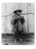 Japanese Peasant in Straw Raincoat Photograph - Japan Prints by  Lantern Press