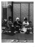 Japanese Family Eating Photograph - Japan Prints by  Lantern Press
