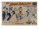 High Rollers - Bowling Party Theatre Poster Art by  Lantern Press
