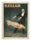 Lantern Press - Kellar Levitation Magic Poster No.1 - Reprodüksiyon