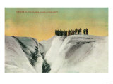 Hikers on Muir Glacier, Alaska - Muir Glacier, AK Prints by  Lantern Press