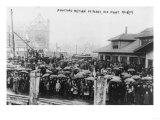 Crow Awaiting the Return of the Fleet Photograph - Norfolk, VA Prints