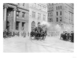 Fire Department's Horse Drawn Engine NYC Photo - New York, NY Prints by  Lantern Press