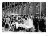 Fans buying hot dogs at Ebbets Field, Brooklyn Dodgers, Baseball Photo - New York, NY Posters