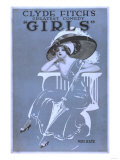 "Clyde Fitch's Greatest Comedy, ""Girls"" Theatre Poster No.2 Prints by  Lantern Press"