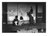 Japanese Children Drawing Wall Panels Photograph - Japan Prints by  Lantern Press