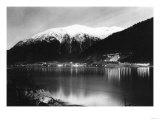 Juneau, Alaska View of Town Mine at Night Photograph - Juneau, AK Prints by  Lantern Press