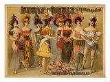 Lantern Press - Hurly-Burly Extravaganza and Refined Vaudeville Poster - Reprodüksiyon