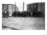 Crowd outside Washington Park, Brooklyn Dodgers, Baseball Photo - New York, NY Prints