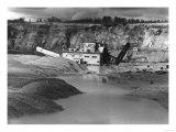 Cripple Creek, Alaska View of Gold Mining Dredge Photograph - Cripple Creek, AK Prints by  Lantern Press
