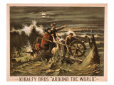 "Kiralfy Bros ""Around the World"" Theatrical Poster Prints by  Lantern Press"