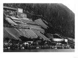 Juneau, Alaska Town Mill View Photograph - Juneau, AK Prints by  Lantern Press
