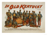 In old Kentucky - African American Band Poster Prints by  Lantern Press