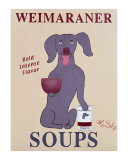 Weimaraner Soups Collectable Print by Ken Bailey