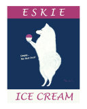 Eskie Ice Cream Collectable Print by Ken Bailey