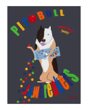 Pit Bull Jaw Breakers Collectable Print by Ken Bailey