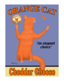 Orange Cat Collectable Print by Ken Bailey