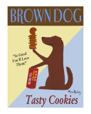 Brown Dog Cookies Collectable Print by Ken Bailey