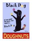 Black Dog Doughnuts Sammlerdruck von Ken Bailey