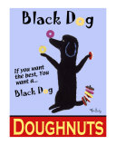 Black Dog Doughnuts Collectable Print by Ken Bailey
