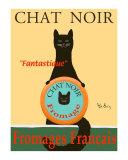 Ken Bailey - Chat Noir II - Black Cat Sběratelské reprodukce