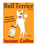 Bull Terrier Coffee Limited Edition by Ken Bailey