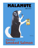 Malamute Smoked Salmon Collectable Print by Ken Bailey