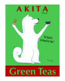 Akita Green Tea Collectable Print by Ken Bailey
