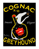 Greyhound Cognac Collectable Print by Ken Bailey