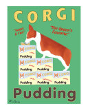 Corgi Pudding Collectable Print by Ken Bailey