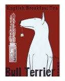 Bull Terrier Tea Collectable Print by Ken Bailey
