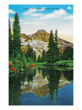 Mirror Lake and Mt. Rainier - Rainier National Park Posters by  Lantern Press