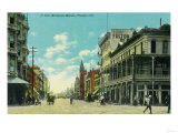 View of J and Mariposa Street Corner - Fresno, CA Print