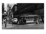 View of a Cable Car on Powell and Market Streets - San Francisco, CA Print