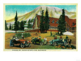 Paradise Inn, Rainier National Park - Rainier National Park Poster by  Lantern Press