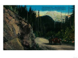 Mt. Rainier and Government Road - Rainier National Park Print by  Lantern Press