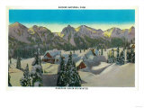 Paradise Inn, Mid-winter, Rainier National Park - Rainier National Park Poster by  Lantern Press